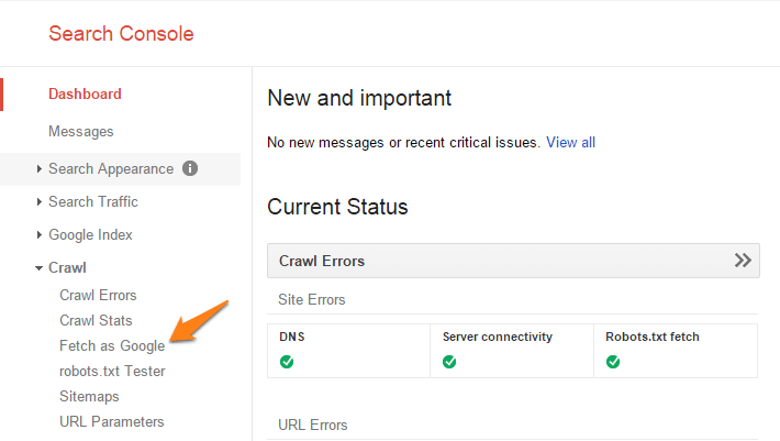 Search Console Indexing Content manually