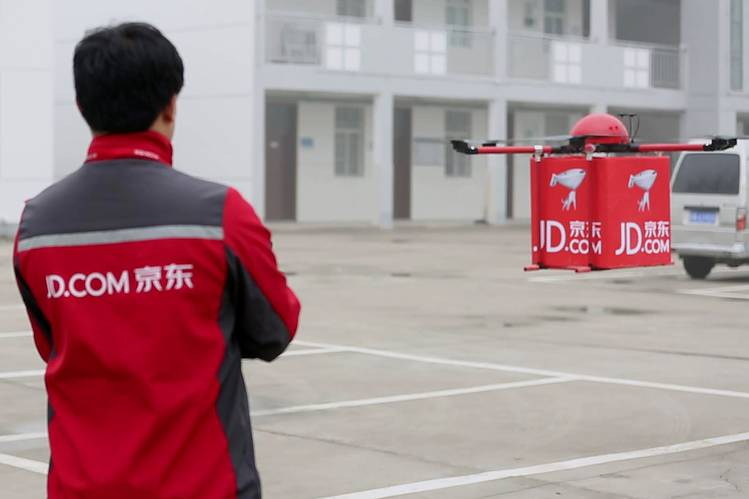 JD.com drone delivery testing