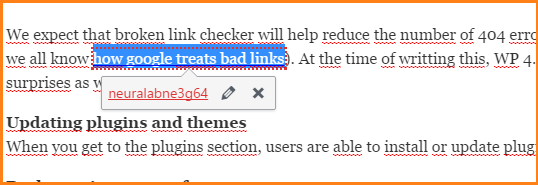 bad link checker